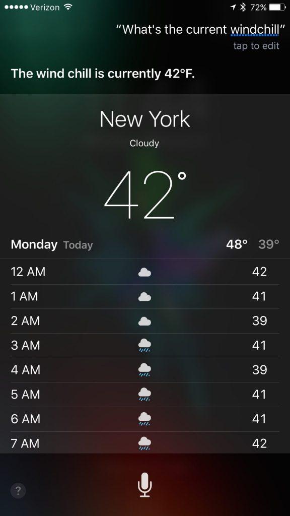 Siri Wind Chill